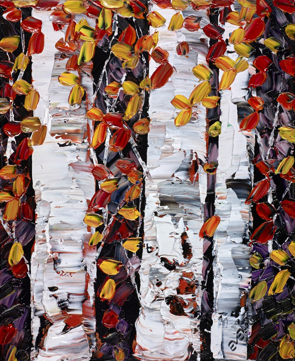 Between the Birch Trees by maya eventov -  sized 16x20 inches. Available from Whitewall Galleries
